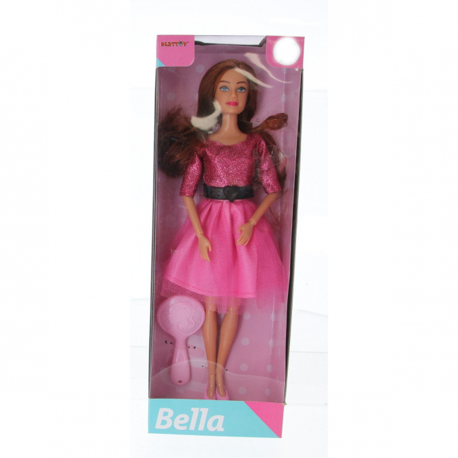 Besttoy -Modepuppe Bella - Partyoutfit pink
