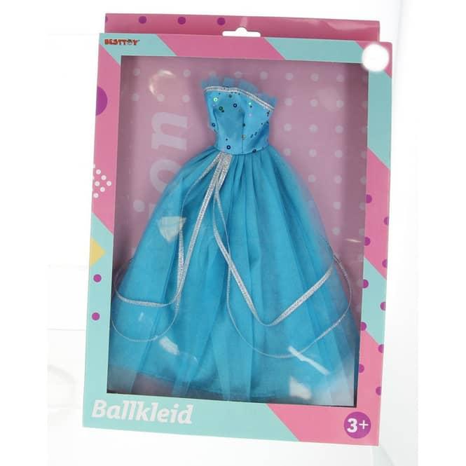 Besttoy - Modepuppenkleidung - blaues Prinzessinnenkleid