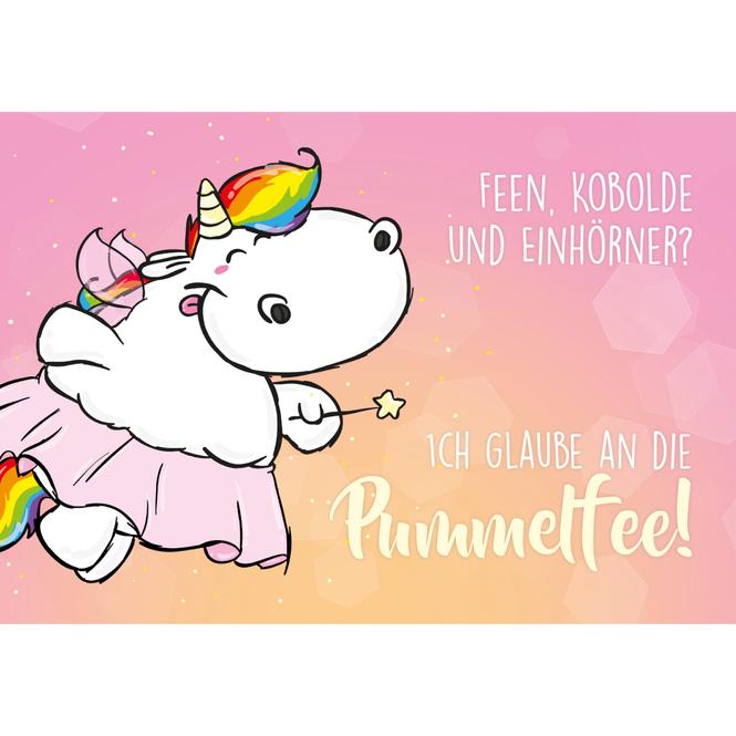 Pummeleinhorn Postkarte - Pummelfee