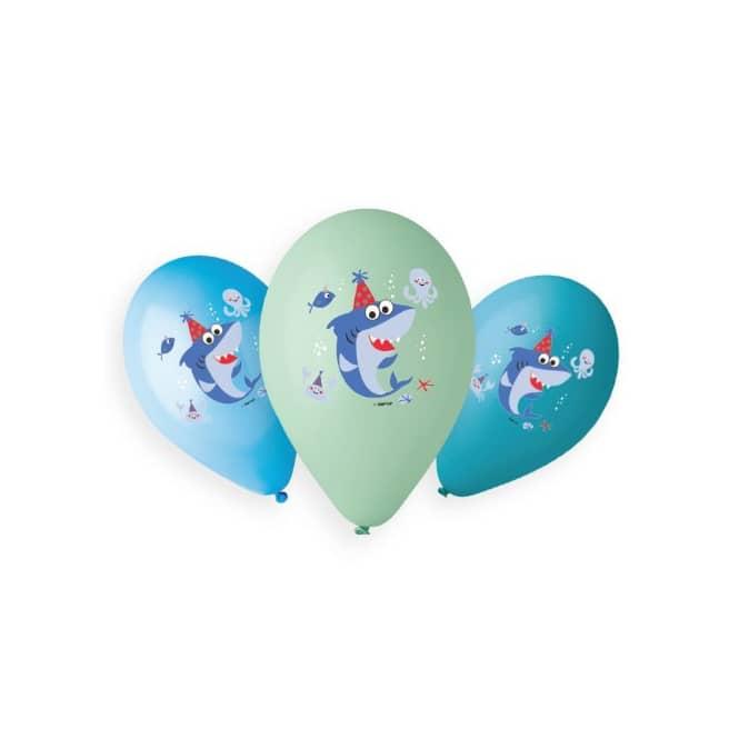 Baby Shark - Ballons - 6 Stück