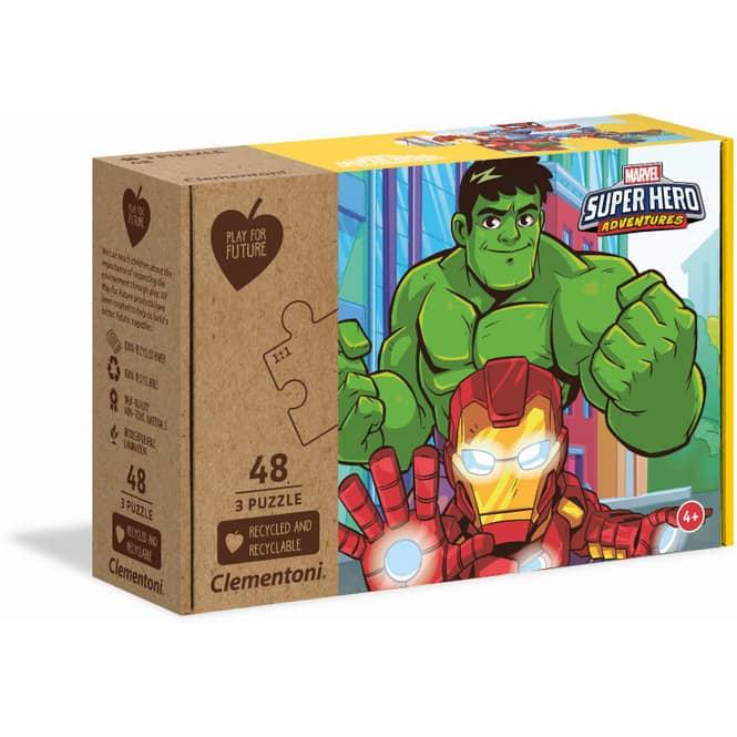 Marvel Super Hero Adventures - Play for Future Puzzle-Set - 3 x 48 Teile