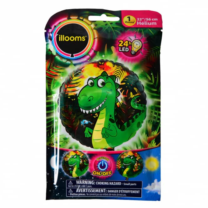 LED-Folienballon - Dino
