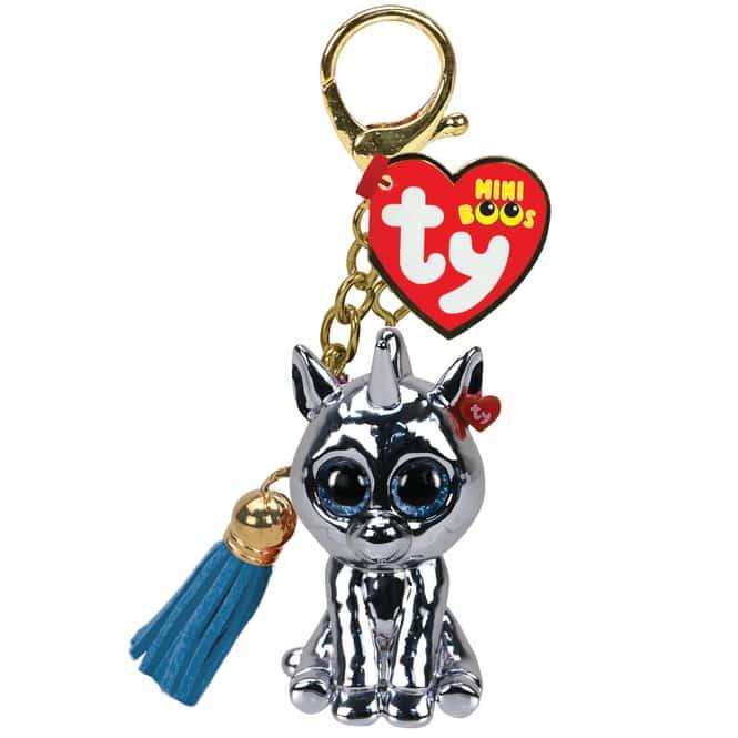 Mini Boo - Schlüsselanhänger - Einhorn Silver - 7 cm - Ty