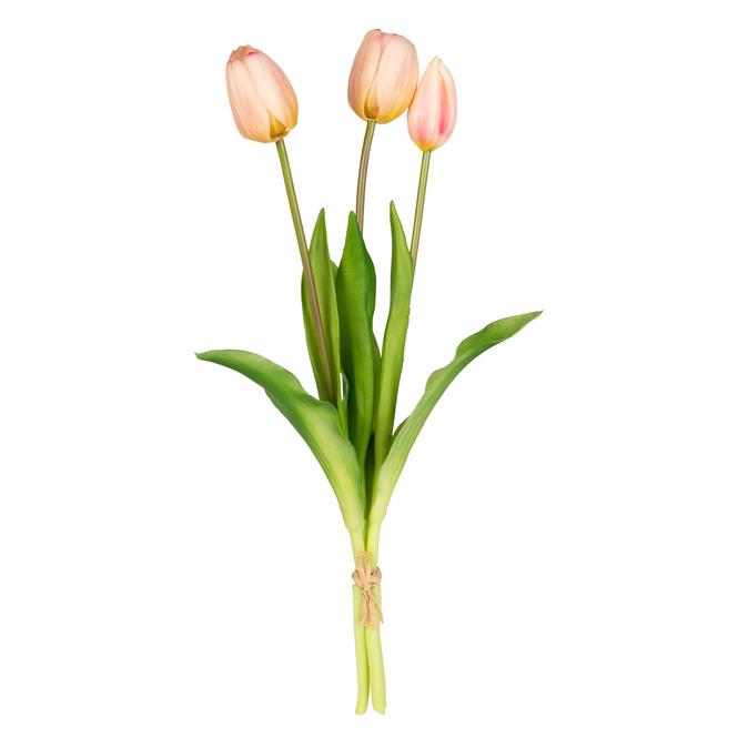 Tulpenbündel - ca. 39 cm - weiß/rosa