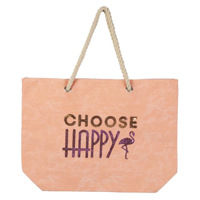 Strandtasche - Choose Happy - ca. 38 x 52 x 38 cm