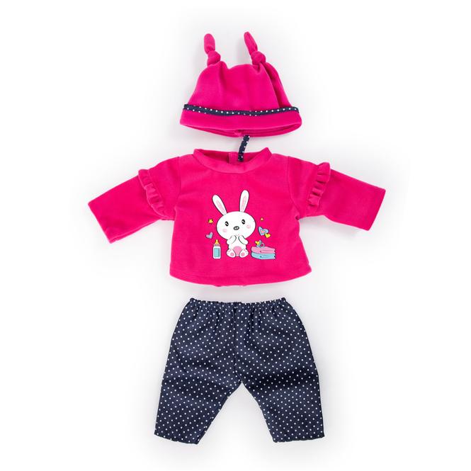 Kleiderset für Puppen - Hasenmotiv - Größe 40-46 cm
