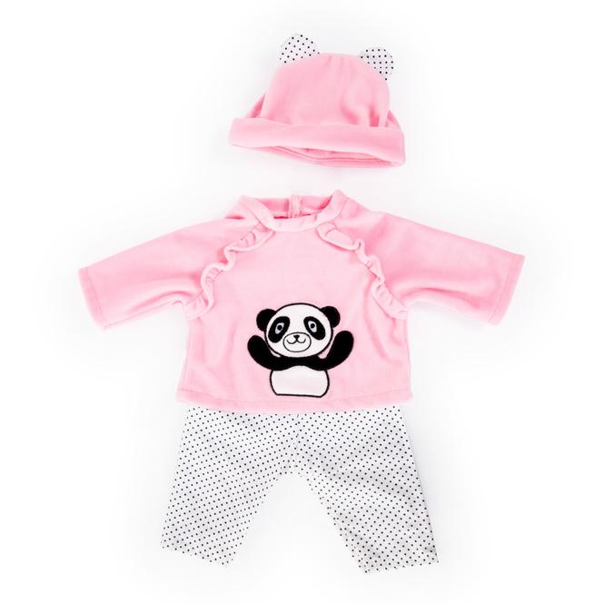 Kleiderset für Puppen - Pandamotiv - Größe 40-46 cm