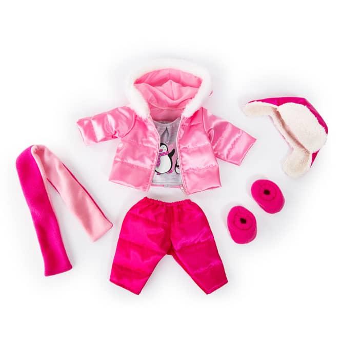 Winterkleiderset für Puppen - Größe 40-46 cm