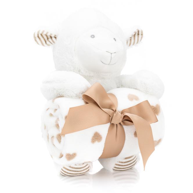 Geschenk-Set - Plüschtier mit Decke - Schaf