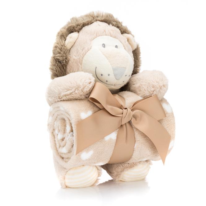 Geschenk-Set - Plüschtier mit Decke - Löwe