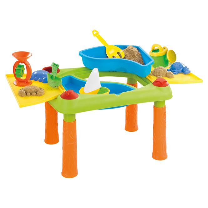 Besttoy - Spieltisch für Sand und Wasser mit Zubehör - 8-teilig