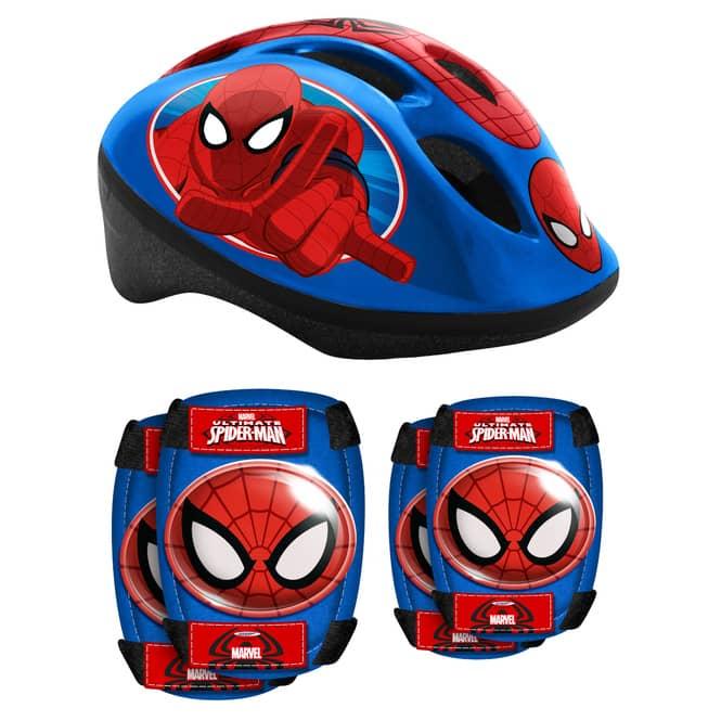 Spiderman - Combo Set - Helm, Ellenbogen- und Knieschutz