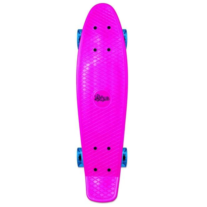 Skateboard - Fun pink- mit Leuchtrollen