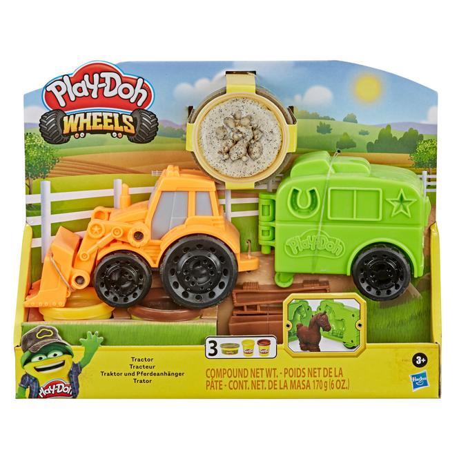 Play-Doh Wheels - Traktor und Pferdeanhänger