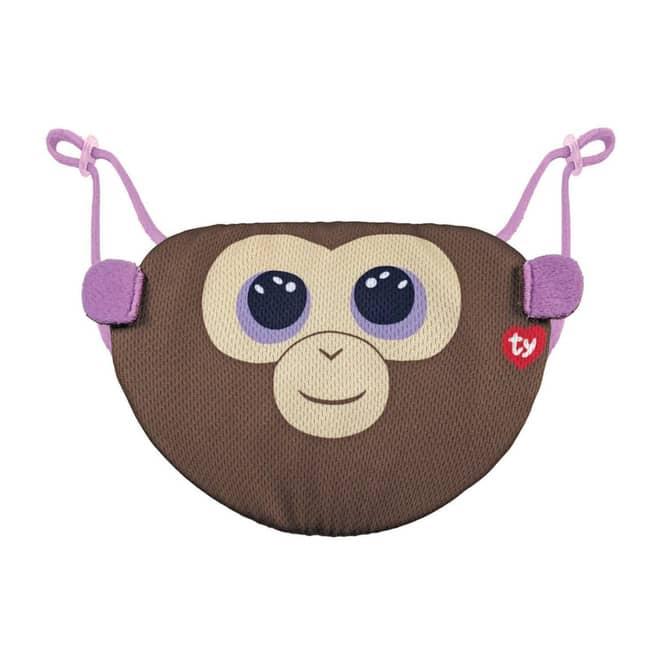 Beanie Boo - Mund-Nasen-Maske - Affe - Coconut