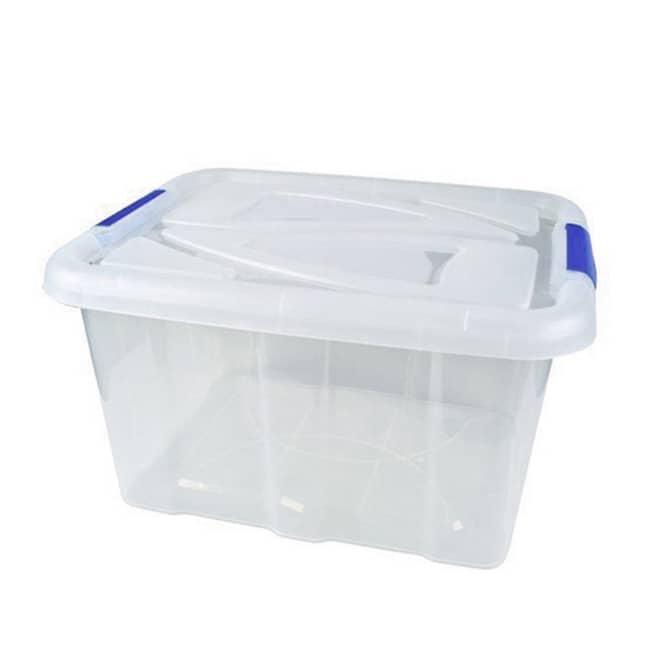 Aufbewahrungsbox mit Deckel - 17 L - transparent