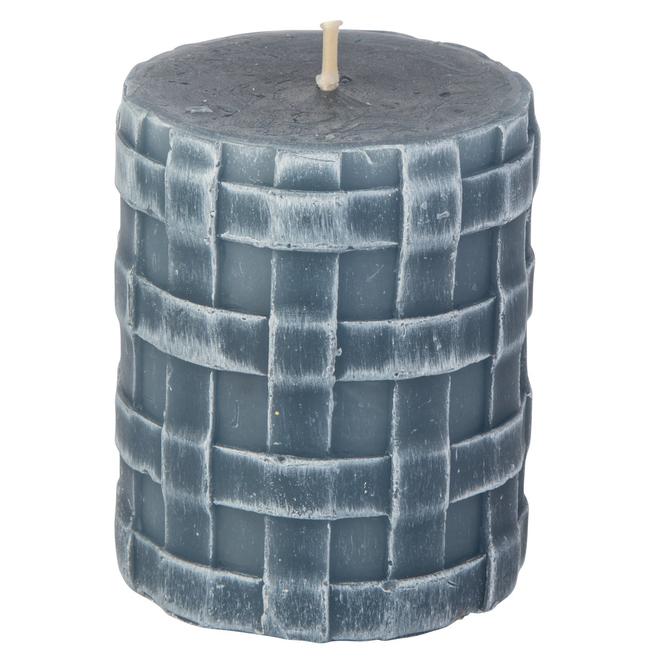 Stumpenkerze - Lio - ca. 8 x 6,5 cm - saphirblau