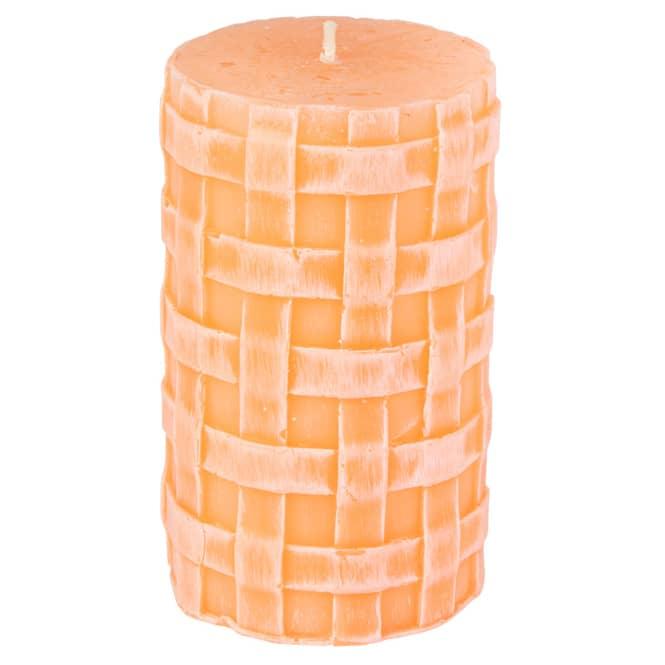 Stumpenkerze - Lio - ca. 11 x 6,5 cm - pfirsisch
