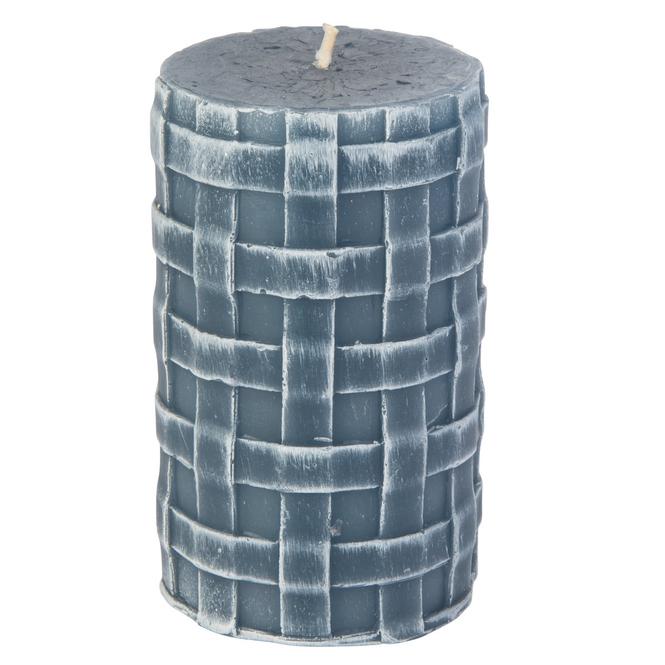 Stumpenkerze - Lio - ca. 11 x 6,5 cm - saphirblau