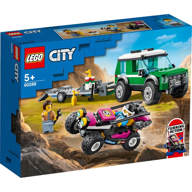 LEGO® City Great Vehicles 60288 - Rennbuggy-Transporter