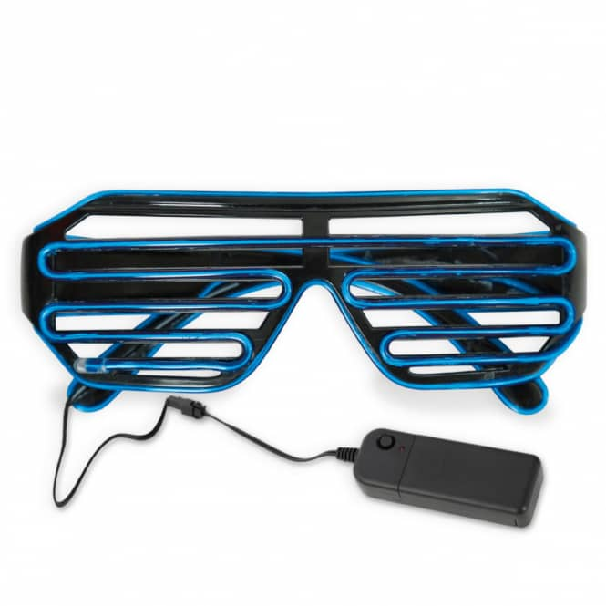 Faschingsbrille - mit LED - blau