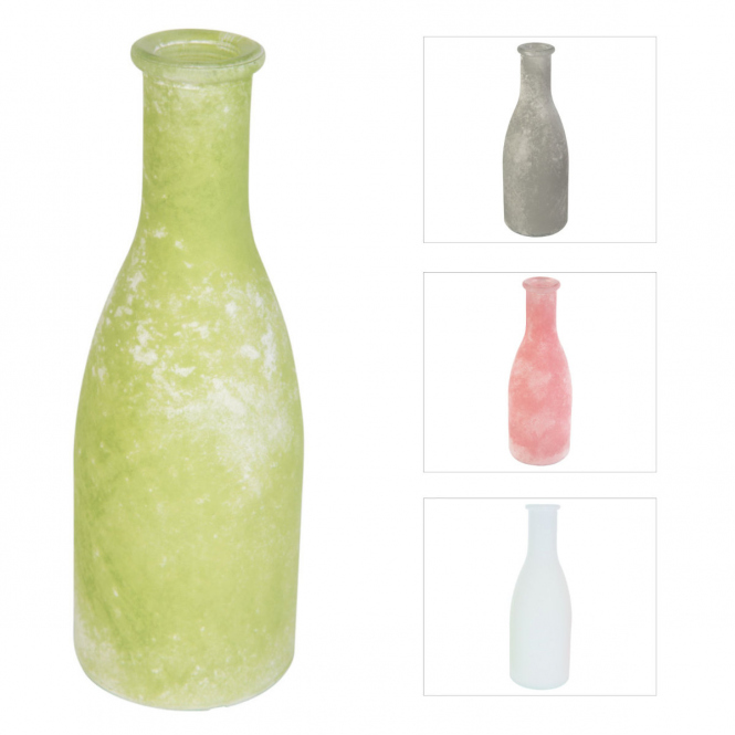 Vase - aus Glas - ca. 6,5 x 18,5 cm - verschiedene Farben