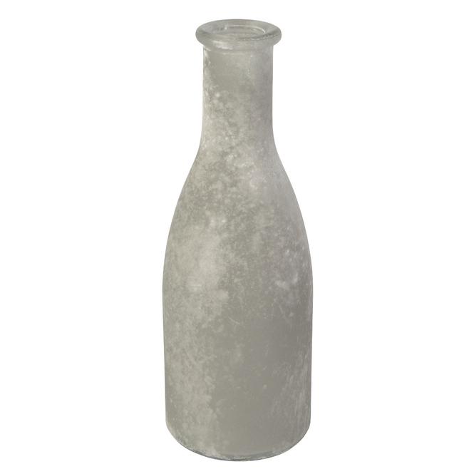 Vase - aus Glas - ca. 6,5 x 18,5 cm - grau