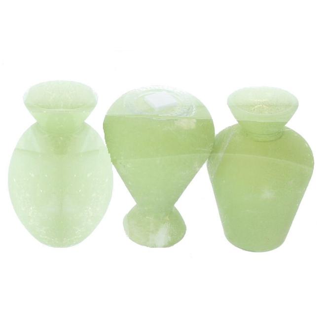 Vasen - aus Glas - grün - ca. 6,5 x 10 cm - 3 Stück