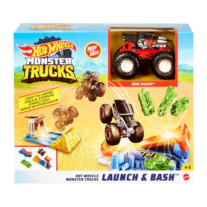 Hot Wheels Monster Trucks - Rennbahn - Startrampen Crash