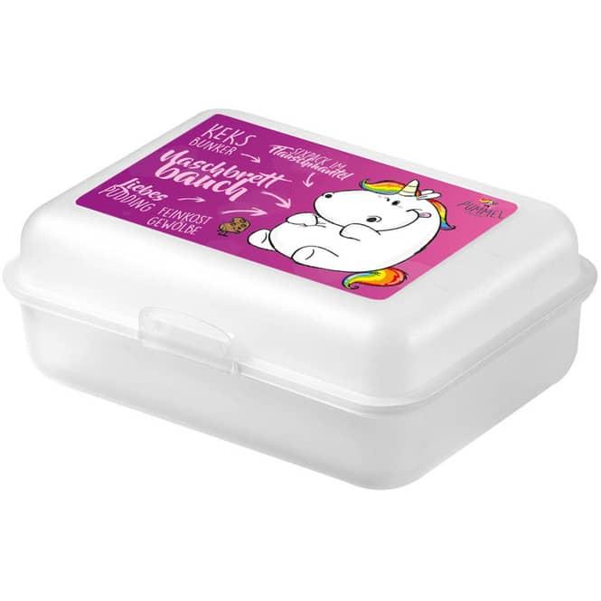 Pummeleinhorn - Brotdose - weiß/pink
