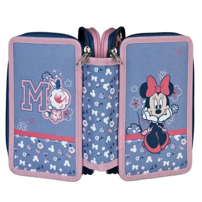 Minnie Maus - Federmäppchen mit 3 Fächern - 30-teilig