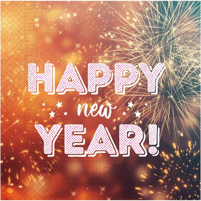 20 Servietten - Happy New Year