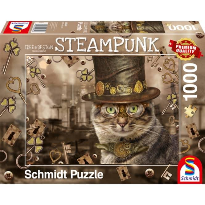 Puzzle - Steampunk Katze - 1000 Teile