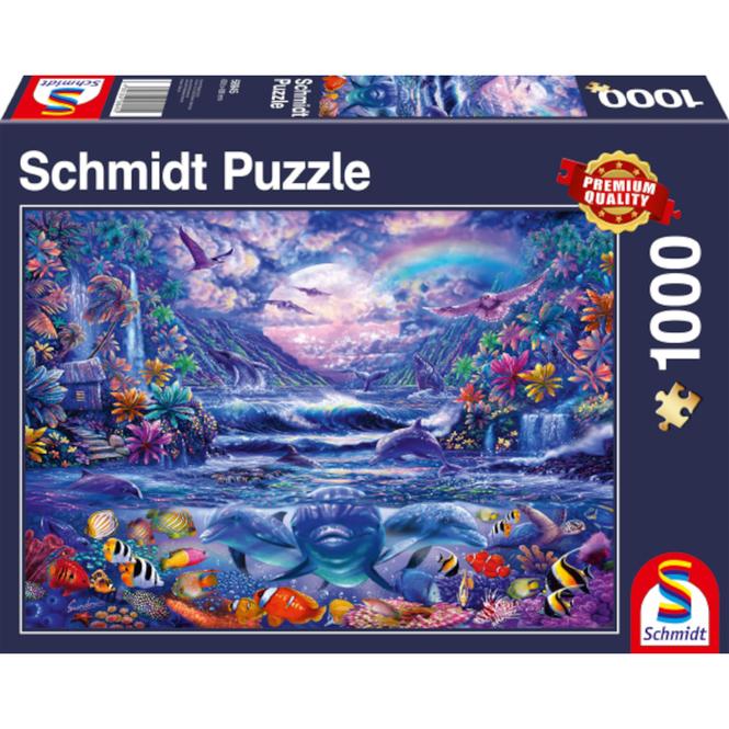 Puzzle - Mondschein-Oase - 1000 Teile