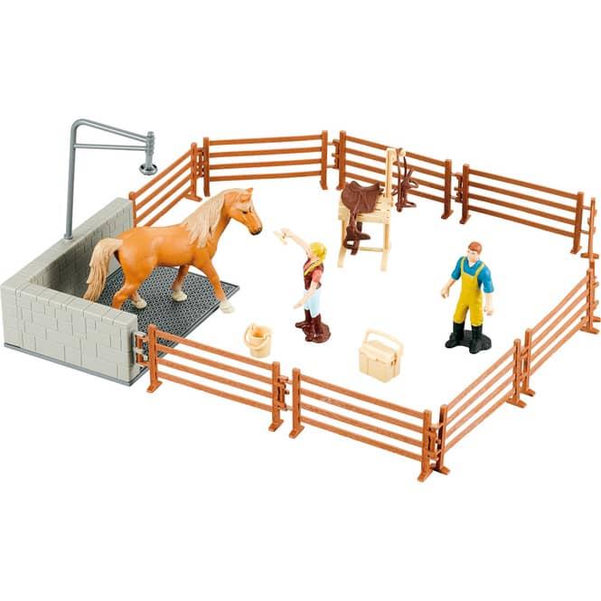 Besttoy - Pferde Set mit Zaun und Zubehör