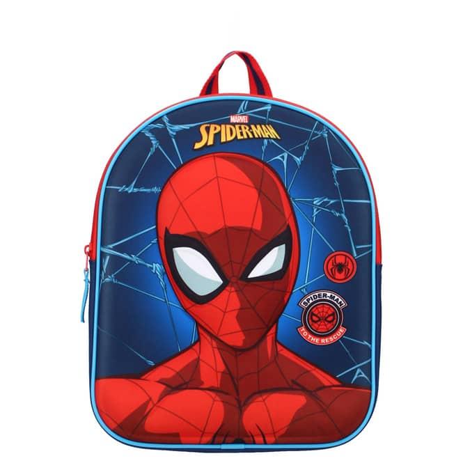 Spiderman - 3D-Kinderrucksack - rot/blau