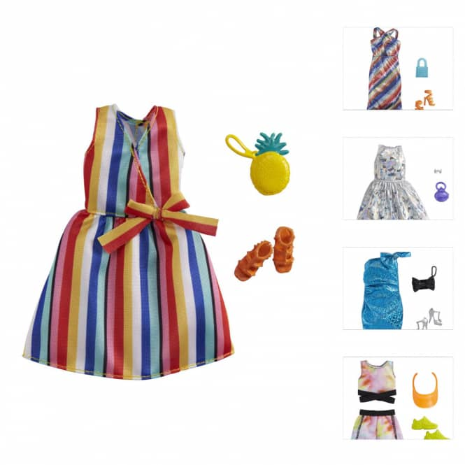 Barbie - Sommermoden Sortiment - mit Accessoire - 1 Stück