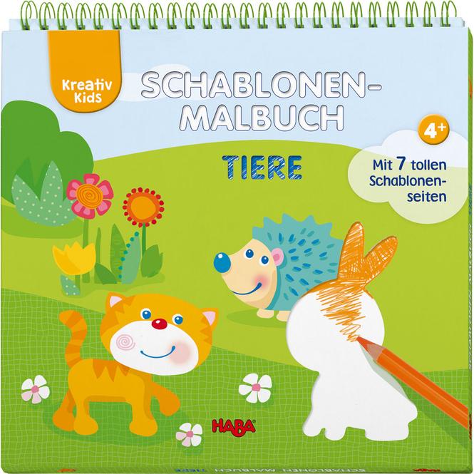 Kreativ Kids - Schablonen-Malbuch Tiere