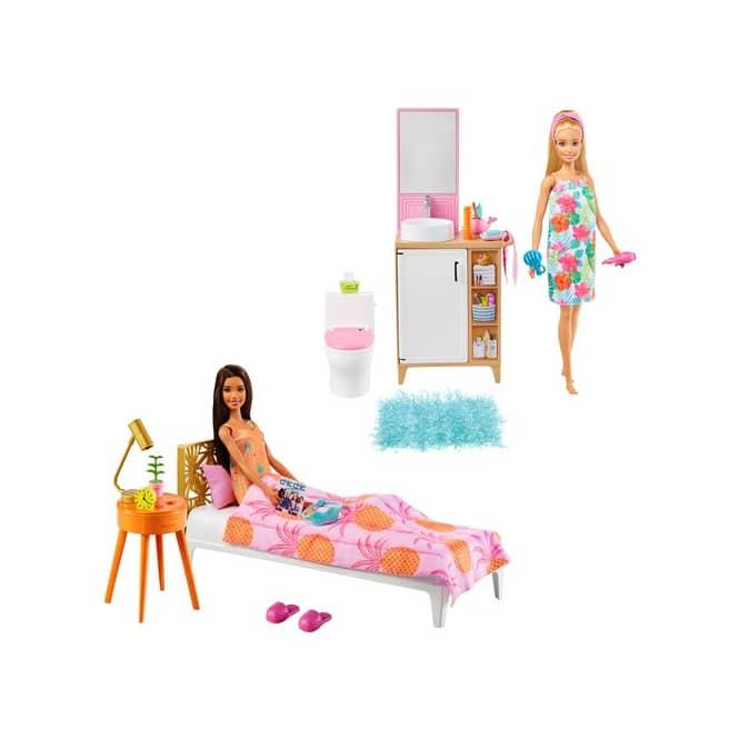 Barbie - Zimmer-Spielset und Puppe