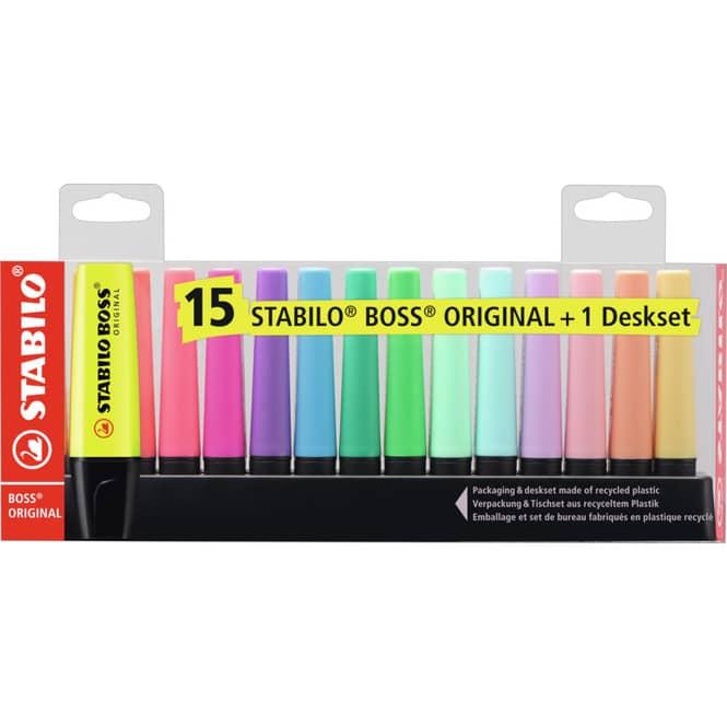 STABILO BOSS Original - Textmarker - 15er Tischset