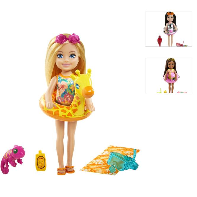 Barbie - Chelsea und der verrückte Geburtstag - Modepuppe mit Schwimmtier