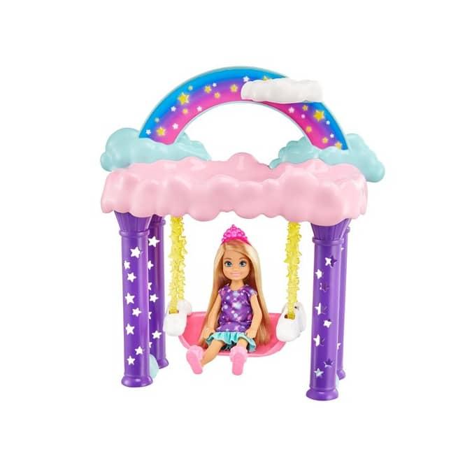 Barbie Dreamtopia - Chelsea Regenbogen-Schaukel-Spielset mit Puppe