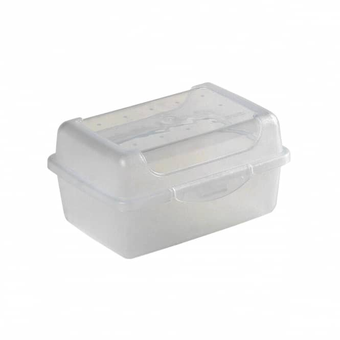 Brotdose - transparent - 11 x 7,5 x 6 cm
