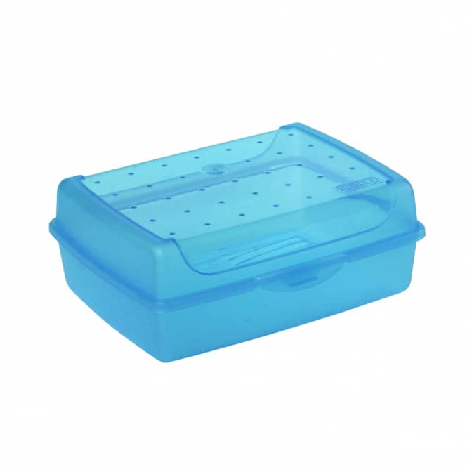 Brotdose - blau - 17 x 13 x 7 cm