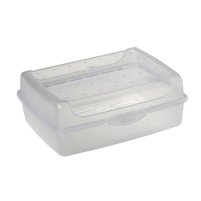 Brotdose - transparent - 17 x 13 x 7 cm