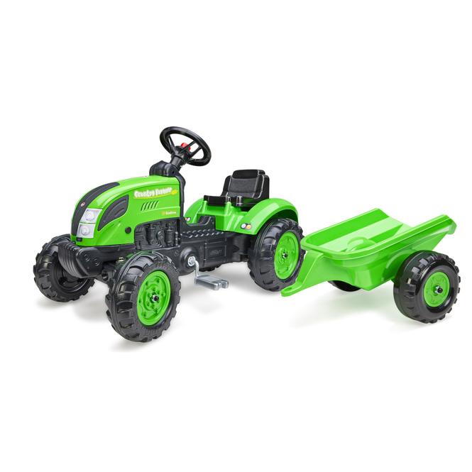 Falk - Traktor Counrty Farmer mit Anhänger - ca. 138 cm
