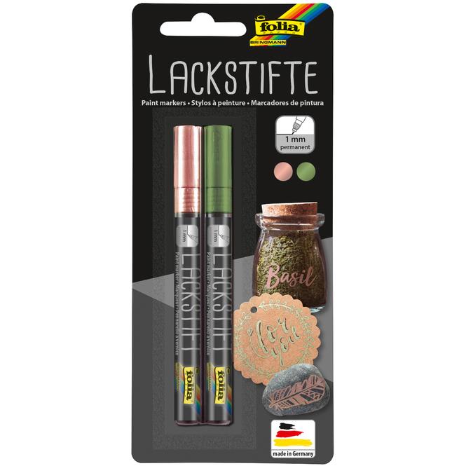 Lackstifte - 1 mm - rosé und grün