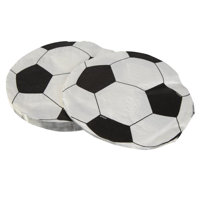 20 Servietten - Fußball - ca. 33 x 33 cm