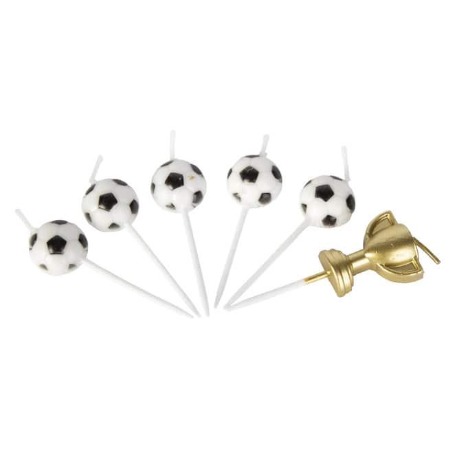 Kerzenset - Fußball - 6 Stück