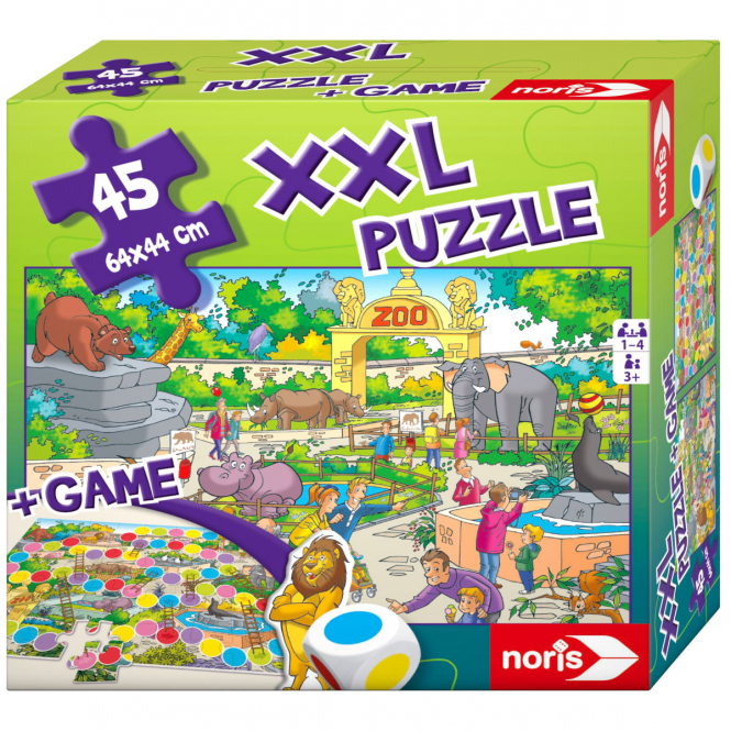 XXL Puzzle + Spiel - Zoo - 45 Teile